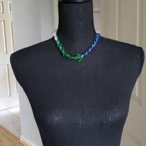 MULTI COLORED CRYSTAL BEADED NECKLACE